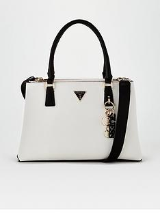 guess-becca-tri-tone-cross-body-satchel-blackwhite