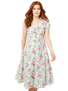 Joe Browns Joe Browns Floral Butterfly Dress - White Picture