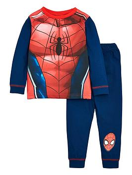 spiderman-boys-novelty-long-sleeve-pjs-red