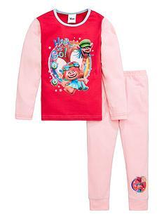 dreamworks-trolls-girlsnbsphair-we-go-long-sleeve-pjs-pink