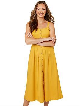 Joe Browns Joe Browns Beautiful Button Through Dress - Mustard Picture