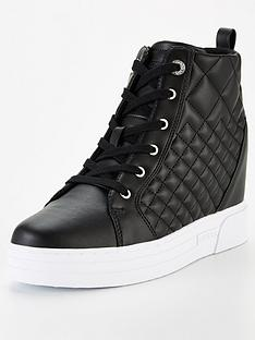 guess-fase-quilted-hidden-wedge-trainers-black