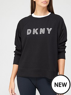dkny-sport-embroidered-track-logo-sweatshirt-black
