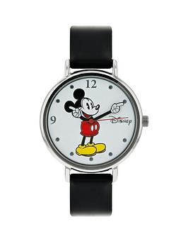 disney-mickey-mouse-hand-mover-dial-black-leather-strap-watch