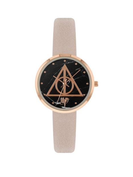 harry-potter-black-and-pink-dial-pink-faux-leather-strap-watch