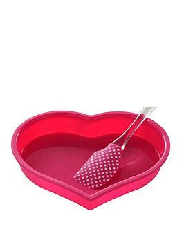 Premier Housewares Premier Housewares 2 Piece Silicone Heart Baking Set Picture