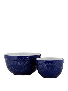 Premier Housewares Premier Housewares Set Of 2 Gigi Round Mixing Bowls -  ... Picture