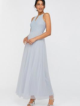 Monsoon Monsoon Sophia Embellished Tulle Maxi Dress - Blue Picture