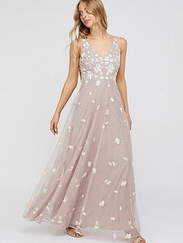 Monsoon Monsoon Clemence Embroidered Maxi Dress - Pink Picture