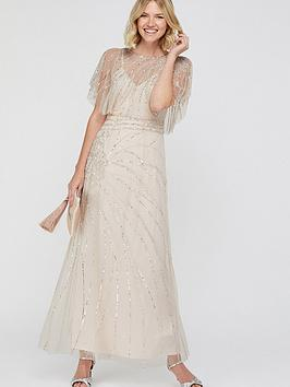 Monsoon Monsoon Florence Embellished Maxi Dress - Nude Picture