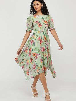 Monsoon Monsoon Hermione Printed Sustainable Tea Dress - Green Picture