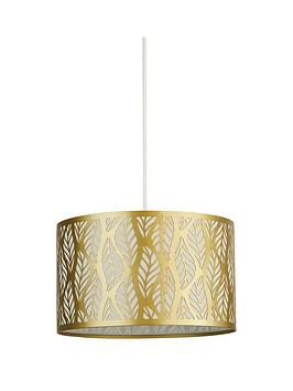 Very Laser Cut Leaf Metal Light Shade - Gold Picture