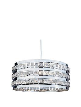 Very  3 Light Chrome Beaded Light Pendant