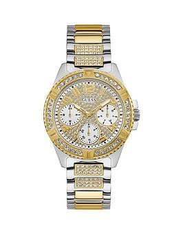 Guess Guess Guess Lady Frontier Silver And Gold Detail Glitz Multi Dial  ... Picture