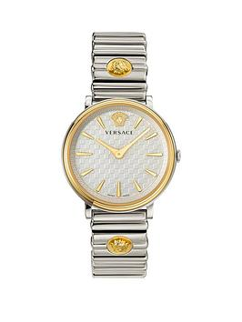 Versace Versace V-Circle Silver And Gold Detail Dial Two Tone Stainless  ... Picture