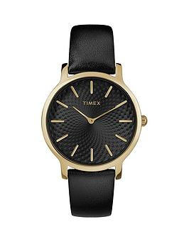 Timex Timex Timex Transcend Black Sunray And Gold Detail Dial Black  ... Picture