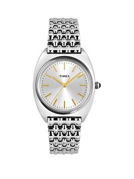 Timex Timex Timex Milano Silver And Gold Detail Sunray Dial Stainless  ... Picture