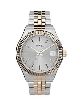 Timex Timex Timex Waterbury Silver And Gold Detail Date Dial Two Tone  ... Picture