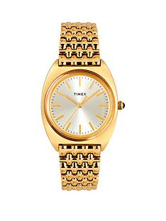 timex-timex-milano-champagne-and-gold-detail-sunray-dial-gold-stainless-steel-bracelet-ladies-watch