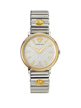 Versace Versace Versace V-Circle Silver And Gold Detail Dial Stainless  ... Picture