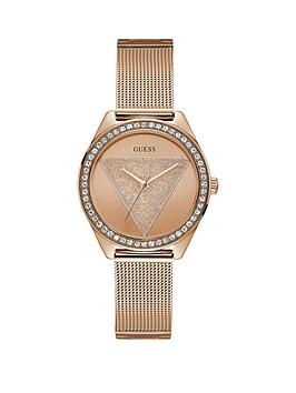 Guess Guess Guess Tri Glitz Rose Gold Crystal Set Dial Stainless Steel  ... Picture
