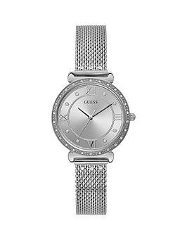 Guess Guess Guess Jewel Silver Sunray Dial Stainless Steel Bracelet Ladies  ... Picture