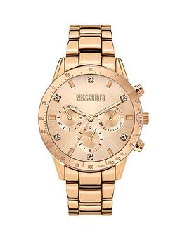 Missguided Missguided Missguided Rose Sunray Chronograph Dial Rose Gold  ... Picture