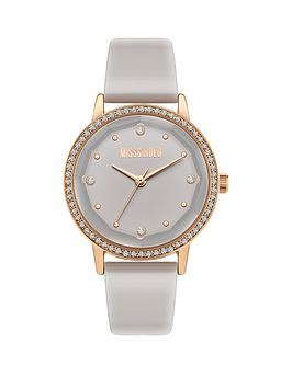 Missguided Missguided Missguided White And Gold Crystal Set Dial White  ... Picture