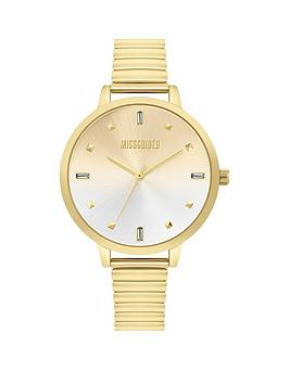 Missguided Missguided Missguided Gold Sunray Dial Gold Stainless Steel  ... Picture