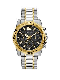 guess-guess-commander-black-and-gold-detail-chronograph-dial-two-tone-stainless-steel-bracelet-mens-watch