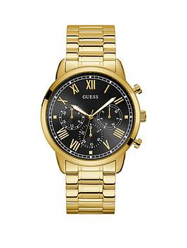 Guess Guess Guess Hendrix Black Sunray Chronograph Dial Gold Stainless  ... Picture