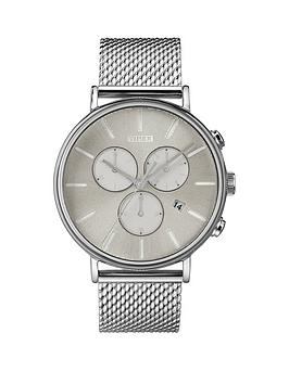 Timex Timex Timex Fairfield Silver Sunray Chronograph Dial Stainless Steel  ... Picture