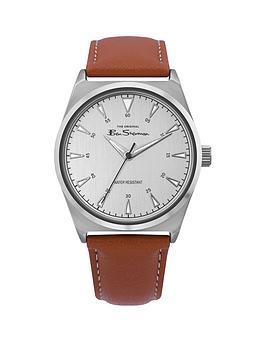 ben-sherman-ben-sherman-silver-dial-brown-leather-strap-mens-watch