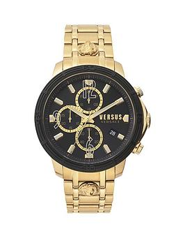versus-versace-versus-versace-black-chronograph-dial-gold-stainless-steel-bracelet-mens-watch