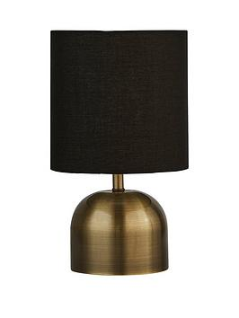 Very Tayrn Touch Lamp - Antique Brass/Black Picture
