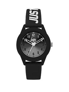 hype-hype-black-sunray-dial-black-and-white-just-hype-silicone-strap-kids-watch
