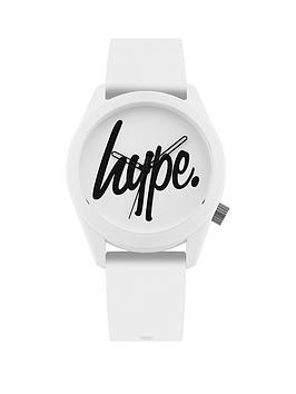 Hype Hype Hype White And Black Hype Dial White Silicone Strap Kids Watch Picture