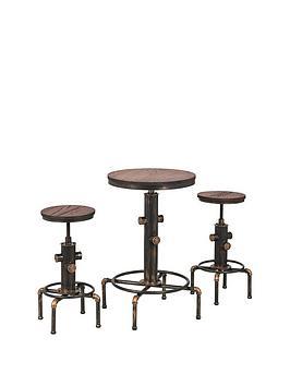 Julian Bowen Julian Bowen Rockport Table + 2 Stools Picture