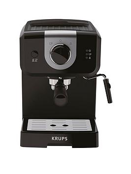 Krups   Opio Steam &Amp; Pump Xp320840 Espresso Machine &Ndash; 1.5-Litre / Black