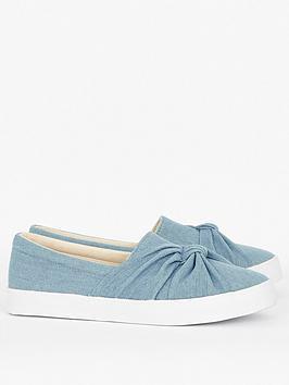Evans Evans Denim Knot Shoes - Blue Picture