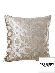 catherine-lansfield-lattice-cut-velvet-cushion