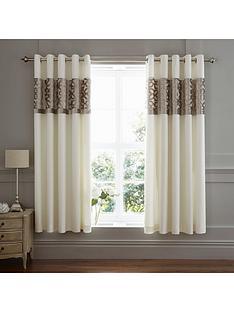 catherine-lansfield-lattice-cut-velvet-eyelet-curtains