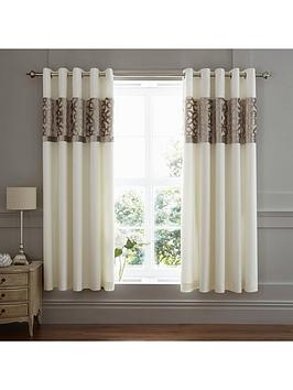 Catherine Lansfield Catherine Lansfield Lattice Cut Velvet Eyelet Curtains Picture