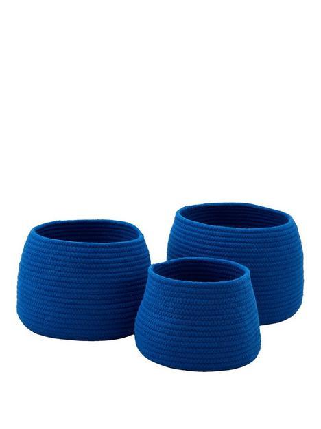 set-of-3-cotton-rope-storage-baskets-ndash-blue