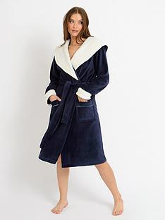 chelsea-peers-nycnbspfleece-robe-black