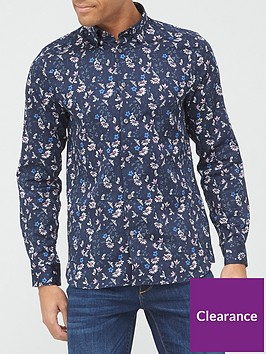 ted-baker-pastry-floral-amp-bird-print-shirt-navy