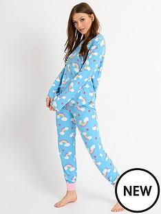 chelsea-peers-jersey-rainbow-pyjama-set-blue