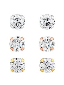 simply-silver-tri-tone-4mm-cubic-zirconia-round-brilliant-stud-earrings