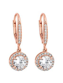 Simply Silver Simply Silver Rose Gold Clara Earrings Picture