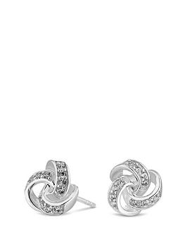 Simply Silver Simply Silver Silver Cubic Zirconia Knot Stud Earrings Picture